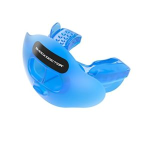 Shock Doctor 3300 Max Airflow Football Mouth Guard with Tether  Trans Blue  Youth