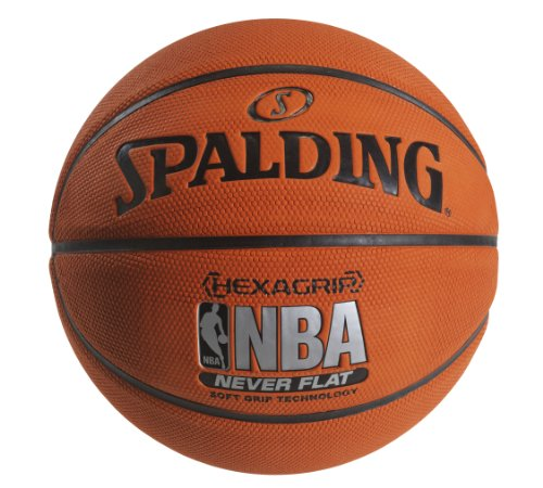 Spalding NeverFlat Soft Grip Indoor/Outdoor Basketball  29.5 Inch